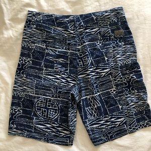 Volcom Swim - Navy & White Hybrid Shorts